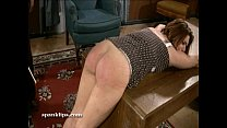Upset bruntte is taken a serious spanking thumbnail