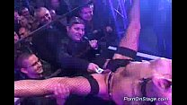 Porn on stage stripper toying
