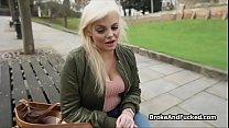 Banging broke blonde big tit for cash preview image