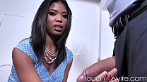Pastor Lets Shy Ebony Wife Get Stretched Out By Big Cock
