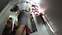 Peeping into the public dressing room, a view f...