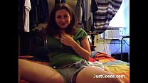 Horny amber college coed fingering