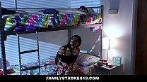 FamilyStrokes - Violet Rain Fucks Her Younger Stepbro In her Dorm