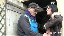 French papy doing a busty milf with a young friend