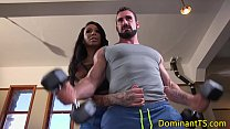 Dominating ts fucks guys ass in the gym