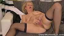 Hot milf Paege from Europe strips off and plays preview image