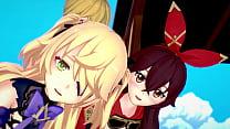 Genshin Impact - Two Archer Girls [3D Hentai, 4K, 60FPS, Uncensored]