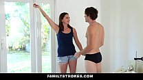 FamilyStrokes - Cute Step-Sister (Hope Howell) Gets Double Penetrated By Brothers