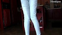 Girls with full bladders wetting their jeans panties 7