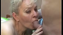 Blonde Granny dick in mouth
