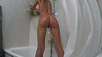 Sasha Bikeyeva - Real Home Video Young Russian girl peeing in the shower