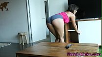 Real teen stepsister gets doggystyled