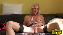 Squirting brit granny throatfucked Image