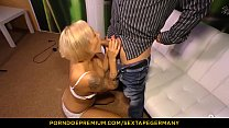 SEXTAPE GERMANY - Silicone-titted German blonde in her 40s goes for amateur mature sex on cam Vorschaubild