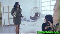 Curvy Latina Babes Devour Big Cock