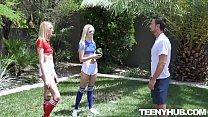 Charlotte Sins, Kenna James Stepsister Football Fuckers
