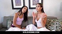 SisLovesMe - Stepbro Spunks In Slutty Sis and Hot Friend صورة