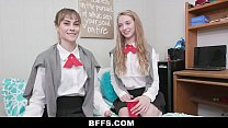 BFFS - Hot Body Teens Team Up To Fuck And Suck Cock