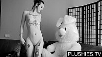 Black Goth girls agrees to suck and fuck with t...