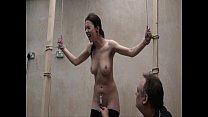 Interrogation torments and electro bdsm of tied slavegirl Emily