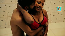 Hot Girl Bathing in Red Bra