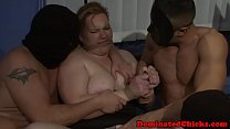 Restrained subs doublepenetrated by doms