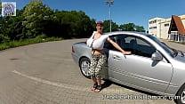 Penelope Black Diamond - Car driving tour & topless Boobs Image