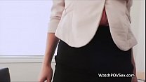 Horny secretaries job interview leads to anal