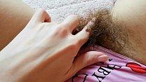 Super hairy bush pussy in panties close up compilation Vorschaubild