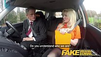 Fake Driving School Mature guy spunks over blonde bombshell Georgie lyall thumbnail