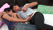 Kinky Asian twinks pissing after bareback duo