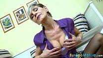 EuropeMaturE Slim Granny Ivana Solo Fingering