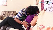 Image: Indian young boy and girl Romance  at Her House