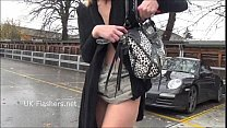 Blonde DeeDees flashing and outdoor masturbation of exhibitionist milf in public Preview