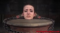 Heeled bdsm teen dominated while in chains thumbnail