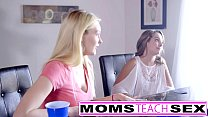 Step mom Brandi Love fucks teen daughter and friends Preview