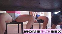 Step mom Brandi Love fucks teen daughter and friends ◦ Boob suck asian thumbnail