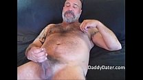 Hairy Daddybear jacks off and Blows his Load