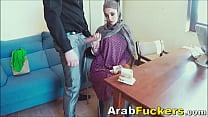 Job Seeking Arabian in Hijab Sucks For Food Money