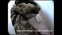 military couple fuck on webcam