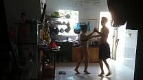 Wife Loves Dance With Neighbor Boy (BX Thể Dục NHảy Chacha Với Em Trai Hàng Xóm)