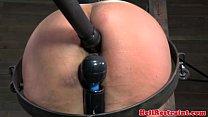 Suspension bondage treatment for sub
