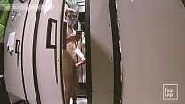 Teen wanking in the fitting room