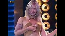 Girl Strips on Tv