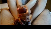 Teen with pretty nails Handjob and Footjob preview image
