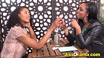 Jizzorama - Black on Black Lezzie Fuck After Meeting Online