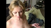 Very sexy mature babe loves a sticky facial cumshot image