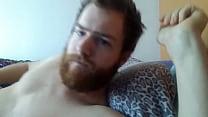 Bearded Guy Masturbating And Cumming