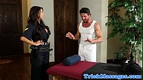 Busty Police Of ficer Pussyfucked By Masseur ed By Masseur