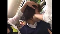 Screenshot Japanese Lesbia n Schoolgirls Groping On Bus roping On Bus
